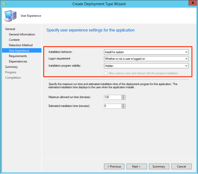 sccm_install_settings