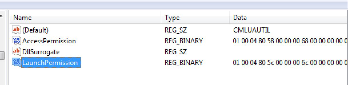 Dcom Config Registry
